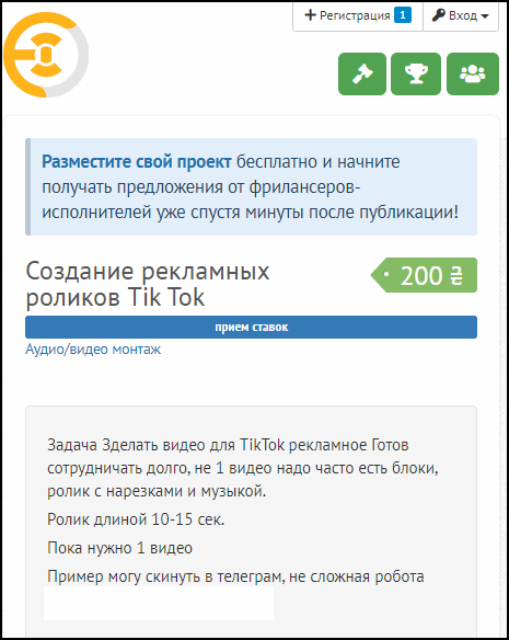 Примеры заказов для Тик Токеров