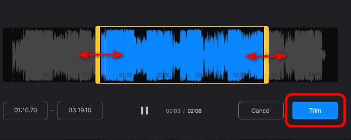 Изменение длины аудио