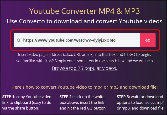 Вставка ссылки в сервисе Converto